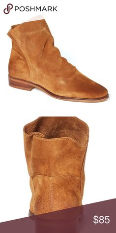 """Chocolat Blu """"Cognac"""" Suede Parker Boot Fashion forward suede boot with leather lining. Rubber sole. 1"""" heel height. European size 41: between 10. Chocolat Blu Shoes Ankle Boots & Booties"""
