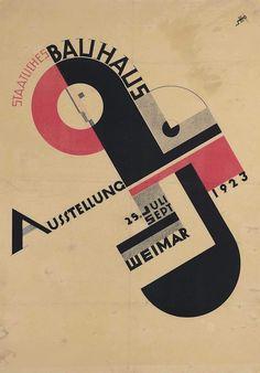 Joost Schmidt (1883-1948) STAATLICHES BAUHAUS AUSSTELLUNG lithograph in colours, 1923