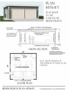 1000 images about garage plans by behm design pdf plans for Flat roof garage plans