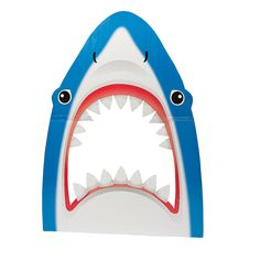 Shark Photo Prop - OrientalTrading.com  We can MAKE this!