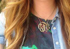 monogram necklace #bloggerstyle #blogger
