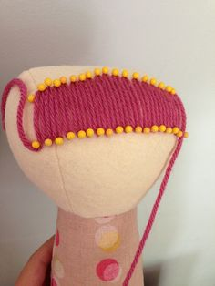 How to make Bangs ( pin them in place, and then use tacking stitches in a matching color thread to sew them down).
