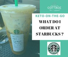 What do I order at Starbucks? How to order at Starbucks when you are on a keto or low carb diet! how to do paleo diet Low Carb Starbucks Drinks, Low Carb Drinks, Healthy Starbucks, Starbucks Menu, Low Carbohydrate Diet, Low Carb Diet, Smoothies Verdes, Carb Cycling Diet, High Carb Foods