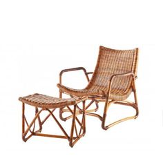 Curvy Lounge Chair And Ottoman   The Best Bamboo And Rattan Furniture For  Your Beach House