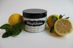 Lemon Mint Sugar Scrub – Blissfulicious! Only $19.95 for 12 oz. and $14.95 for 6 oz.
