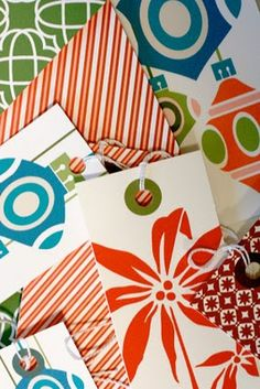 Holiday gift tags by Benign Objects