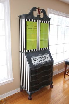 Tim Burton's Beetlejuice Inspired Cabinet by FourthDimensionCo