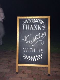 Wedding Chalkboard created by Etch Design Lab (Katherine Sable). Perfect for our wedding!