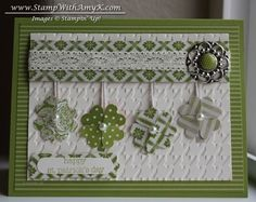 Small Heart Punch Clovers St Patricks Day Card by amyk3868 - Cards and Paper Crafts at Splitcoaststampers