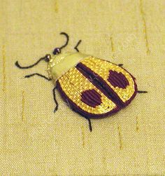 Gold work embroidery | Love Stitch!: Goldwork Beetle