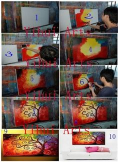 Canvas+Painting+Ideas+Abstract | Abstract Canvas Painting | Simple Ideas to DIYs