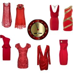 """New Year in Red"" by clothes-cm on Polyvore"