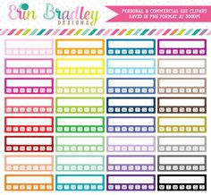 Habit Tracker with Days Clipart – Erin Bradley/Ink Obsession Designs