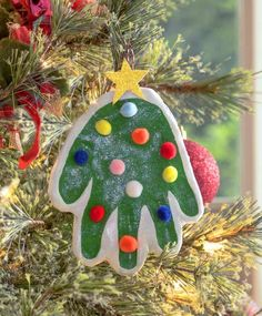 How to Make a Handprint Christmas Ornament , Learn the easiest way to make a DIY handprint ornament! Christmas handprints are a favorite with small children! Make special memories with these thre. Baby Christmas Crafts, Handprint Christmas Tree, Kids Christmas Ornaments, Preschool Christmas, Handmade Christmas, Christmas Fun, Holiday Crafts, Christmas Decorations, Santa Handprint Ornament