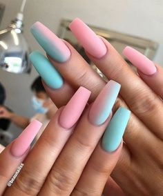 60 Prettiest And Stylish Summer Nail Designs nail art designs colorful nail a . - 60 Prettiest And Stylish Summer Nail Designs nail art designs colorful nail a nails Multicolored Nails, Colorful Nail Art, Summer Acrylic Nails, Best Acrylic Nails, Coffin Nails Designs Summer, Spring Nails, Coffin Nail Designs, Pastel Nails, Acrylic Nail Designs For Summer