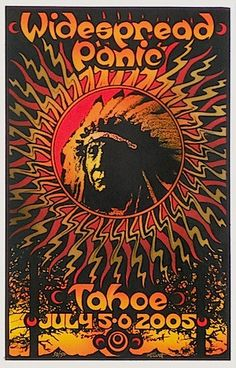 2005 Widespread Panic - Tahoe Concert Poster by Michael Everett at JoJo's Posters  http://www.jojosposters.com/collections/widespread-panic/products/2005-widespread-panic-tahoe-concert-poster-by-michael-everett