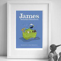 Personalised Boy's 'Noah's Ark' Print