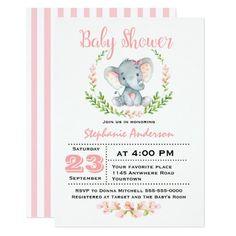 Floral elephant baby shower printable invitation baby girl shower floral elephant baby shower printable invitation baby girl shower invite jungle animal shower invite safari animal pink floral shower 268 pinterest filmwisefo