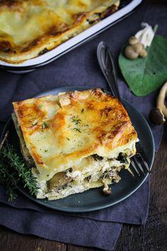 Wild mushroom lasagna.