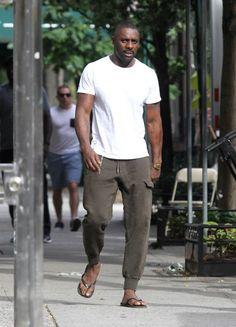 "boyzoo: "" Idris Elba on set of ""The Dark Tower"" in New York """
