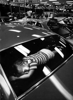 Philip Jones Griffith: Car showroom. Atlanta, Georgia, USA, 1971. (This is where I was during long highway trips)
