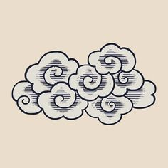 Chinese new year vector by rawpixel on Cloud Illustration, Free Vector Illustration, Free Illustrations, Cloud Drawing, Cloud Art, Chinese Icon, Cloud Tattoo Design, Et Tattoo, Tattoos