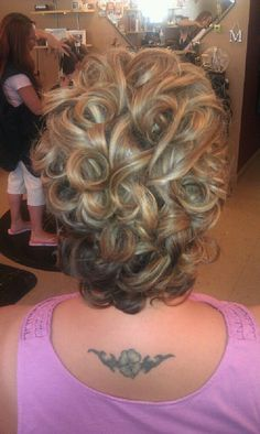 My stylist Christin Perales did an amazing updo for my Ball.