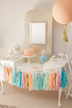 Pastel Ice Cream Social via Kara's Party Ideas | Cake, decor, cupcakes, games and more! KarasPartyIdeas.com #icecreamsocial #iceceamparty #neighborhoodsocial #partyplanning #partyideas #partydecor42