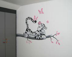 lizart muurschildering pooh