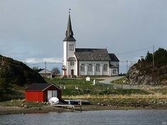 The Nordbotn church, built 1900, on the island Fjellværøy which is connected to by a bridge to the much larger island Hitra on the North-West Coast.