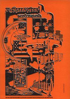 FAMILY DOG POSTER ... FDW-1.  10/31/ 1968 .... Canned Heat .... John Mayall .... Sir Douglas Quintet ...   artist ..... RANDY TUTEN