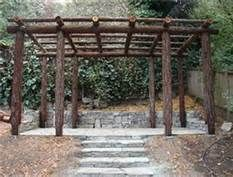 pergola made from trees - Bing Images