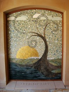 Tree of Life a mosaic in the columbarium, St. Pauls Cathedral by CP Shelton, via Flickr