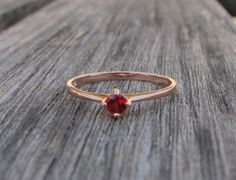 Red Ruby Rose Gold Rings Solitaire Ruby Rings Silver by Belesas