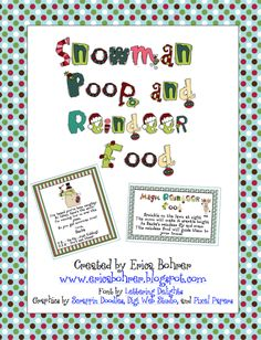 Snowman Poop and Magic Reindeer Food- Pinned by @PediaStaff – Please visit ht.ly/63sNt for all (hundreds of) our pediatric therapy pins