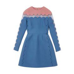 Valentino Fall/Winter 2013 Trunkshow - Moda Operandi ($3,790) ❤ liked on Polyvore featuring dresses, valentino, vestidos, blue, straight dress and blue dress