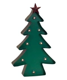 Look what I found on #zulily! Green Marquee LED Light-Up Tree Statue by Melrose #zulilyfinds