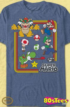 Characters Super Mario Bros. T-Shirt: Nintendo Mens T-Shirt Nintendo Geeks:  Every day can be special wearing this cool design with great art and illustration.