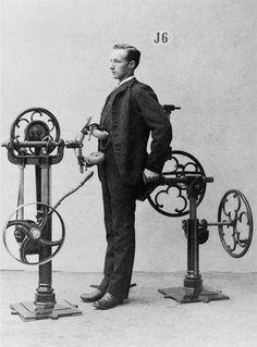 Turn of the century exercise machine