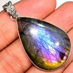 14g-Purple-Labradorite-925-Sterling-Silver-Pendant-Jewelry-SP176149