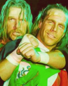 Shawn Michaels and Triple H.