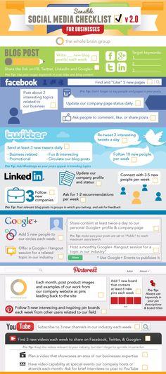 Sensible Social Media Checklist