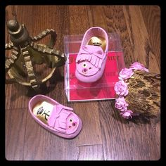 Juicy couture infant moccassins Brand new never worn in box. Adorable infant pink juicy couture moccassins 100% authentic  Size: 3c selling on Mercari $30 free shipping Juicy Couture Other