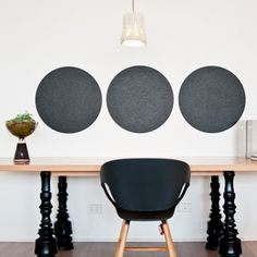 Pin Board - Round in Neutrals - hardtofind. Office Fashion, Home Projects, Personalized Gifts, Unique Gifts, Charcoal, Neutral, Home And Garden, Wall, Pin Boards