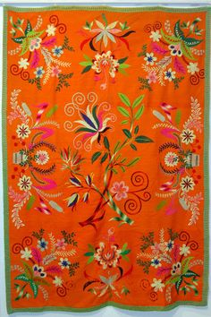 fine craft, wool embroidery, traditional pattern  from Lihula, Estonia♥