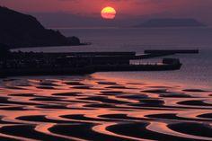 熊本県宇土市、御輿来海岸、 Okoshiki Beach