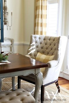 Savvy Southern Style: French Country Christmas Dining Room, host chair