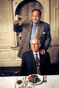 James Gandolfini and Dominic Chianese in The Sopranos