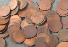 20 copper plated base metal disks blanks by debsdesigns401 on Etsy
