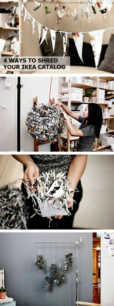 Get creative with recycling! Click for DIY ideas to shred your old IKEA catalogs.